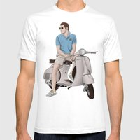 Vespa Lover Mens Fitted Tee White SMALL