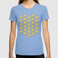 Field  Womens Fitted Tee Tri-Blue SMALL