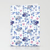 Crystalised Roses In Min… Stationery Cards