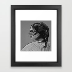 It must exciting to be a fighter, to be totally free (black and white version) Framed Art Print