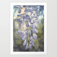 Drops Of Wisteria Art Print