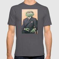 Sir Oscar Grouch Mens Fitted Tee Asphalt SMALL