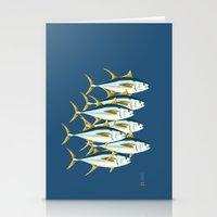 School Of Tuna, Fish Stationery Cards
