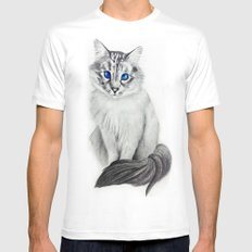 Ojos Azul White SMALL Mens Fitted Tee