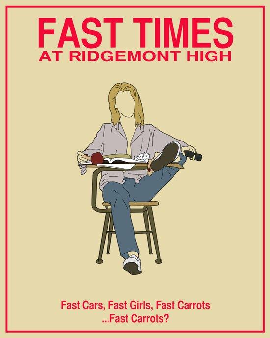 Fast Times at Ridgemont High Movie Poster Art Print