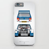 iPhone & iPod Case featuring Outline Series N.º7, MG Metro 6R4, 1986 by Ricardo Santos