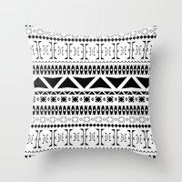Black & White Pattern Throw Pillow