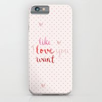 iPhone & iPod Case featuring Like, Love, Want by MaJoBV