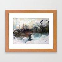 In A Fog Framed Art Print