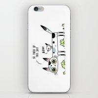Annoyed Cat iPhone & iPod Skin