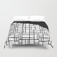 Map Black Boarder Duvet Cover