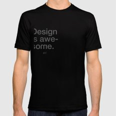 Design Is Awesome Black SMALL Mens Fitted Tee