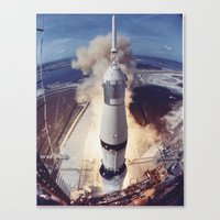 Astronauts Neil A. Armstrong, Michael Collins and Edwin E. Aldrin Jr. 1969 Canvas Print