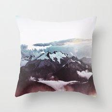 Faded mountain Throw Pillow