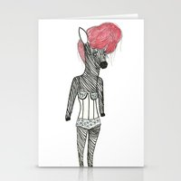 Sexy Zebra Stationery Cards
