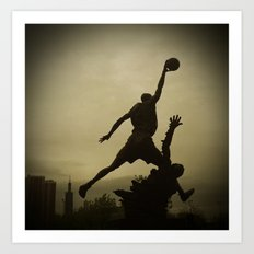 Michael Jordan Statue Chicago Art Print