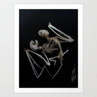 Siamese Bat Art Print