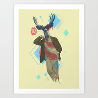 Yo! Deer Man Art Print