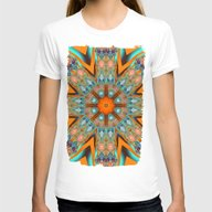 Star Shape Kaleidoscope … Womens Fitted Tee White SMALL