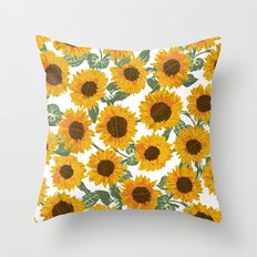 SUNNY DAYS -sunflowers- Throw Pillow