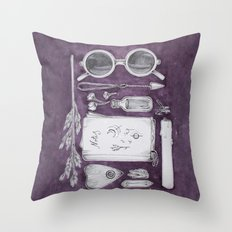 witch's bag Throw Pillow