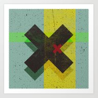 Art Print featuring CROSS by Metron