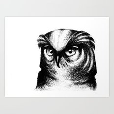Horned Owl Art Print