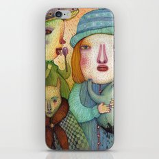 She Just Doesn't Care iPhone & iPod Skin