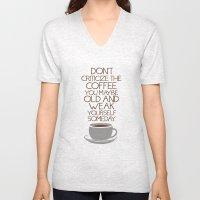 Coffee Warning Unisex V-Neck