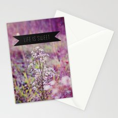 life is sweet. Stationery Cards