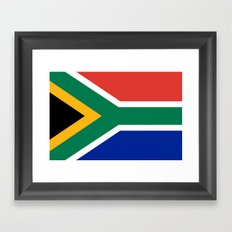 National flag of the Republic of South Africa - Authentic Framed Art Print