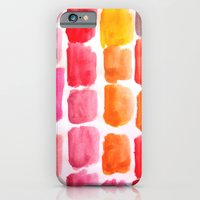 iPhone & iPod Case featuring Strawberry Squares - red, orange, yellow, purple by Atelier Susana Tavares