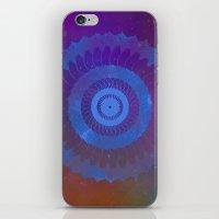 Technicolor Cosmos Blue iPhone & iPod Skin