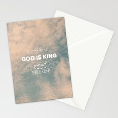 King of the Earth - Psalm 47:7 Stationery Cards