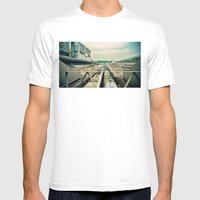 Train station Mens Fitted Tee White SMALL
