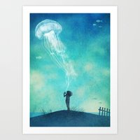 The Thing About Jellyfis… Art Print