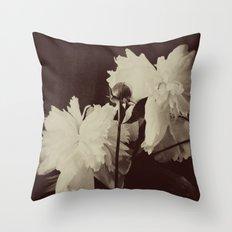 White Peony Throw Pillow