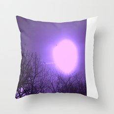 amethyst sky Throw Pillow