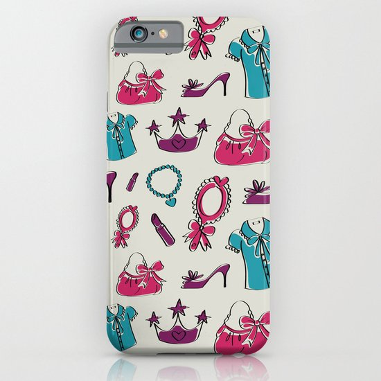 Lady pattern iPhone & iPod Case
