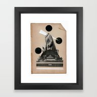 Framed Art Print featuring The Uphill Struggle For … by TRASH RIOT