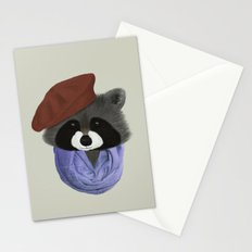 Hip Raccoon Stationery Cards