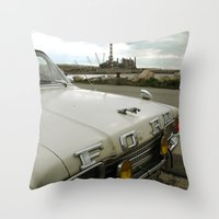 Travel Away On A Rainy D… Throw Pillow