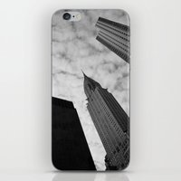 NY clouds iPhone & iPod Skin