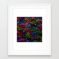 Something is Fishy Framed Art Print