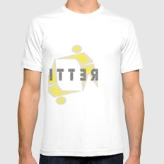 LITTER LOGO Mens Fitted Tee SMALL White
