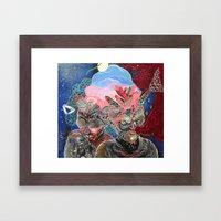 mine is bigger Framed Art Print