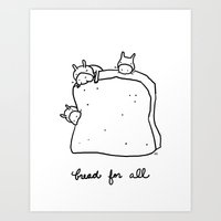 bread for all Art Print