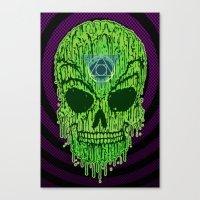 Toxxik Skull Canvas Print