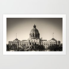 Minnesota Capitol Building Art Print