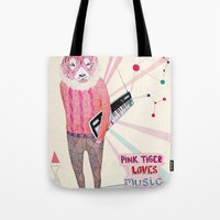 Pink Tiger Tote Bag